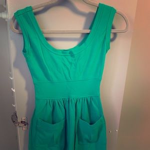 Jade green DVF dress